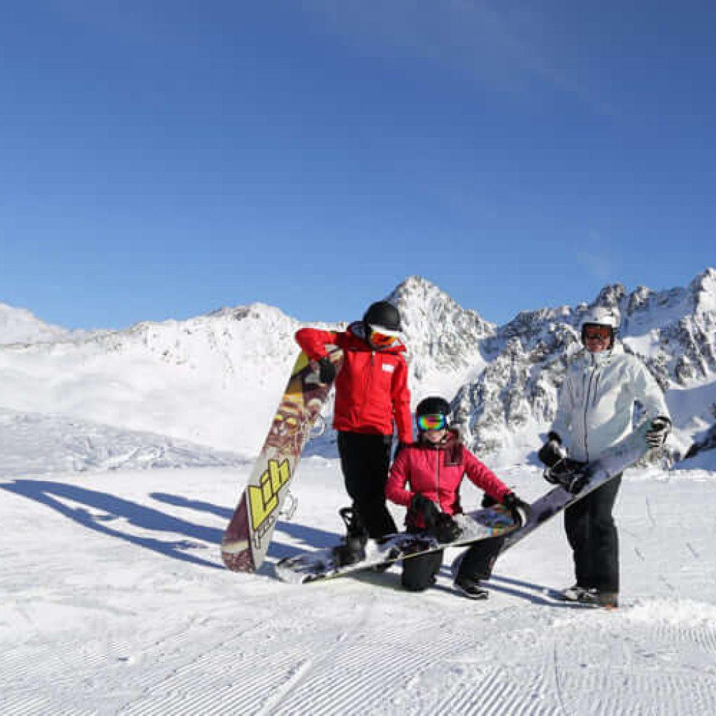 Snowboardgruppe Wildgrat