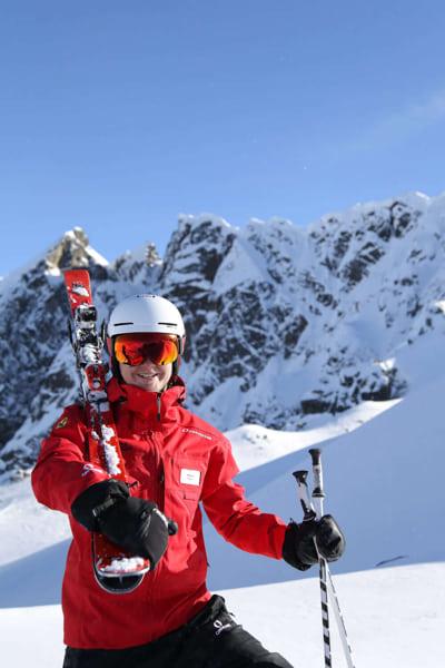Skilehrer an der Skischule Hochzeiger