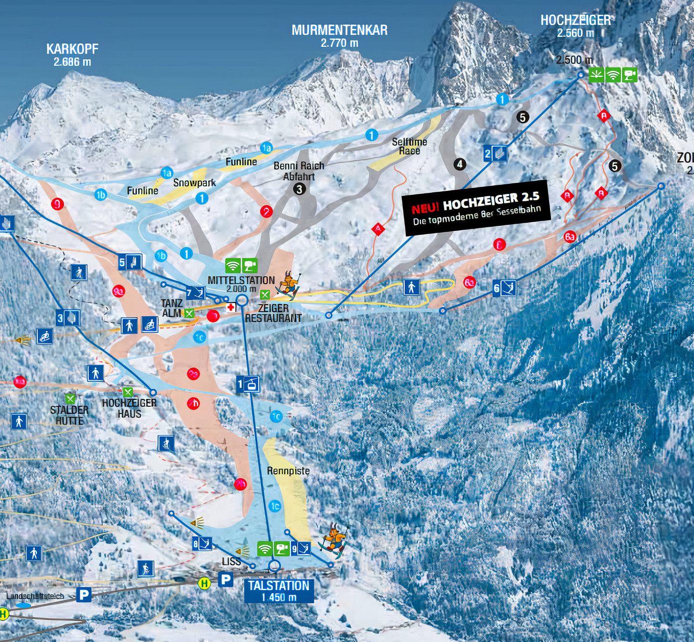 Treffpunkte Skischule Hochzeiger